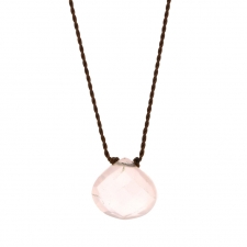 Faceted Rose Quartz Zen Gems Necklace Image