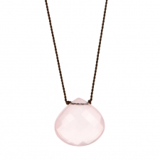 Faceted XL Rose Quartz Zen Gems Necklace Image