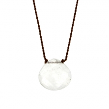 Faceted Rainbow Moonstone Zen Gems Necklace Image