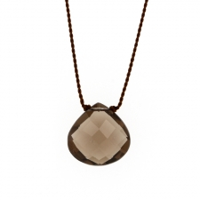 Faceted Smoky Quartz Zen Gems Necklace Image