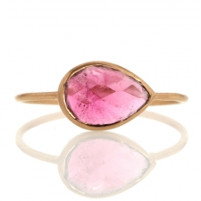18k Rose Gold Pink Tourmaline Ring Image