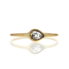 Diamond 18k Yellow Gold Delicate Ring Image