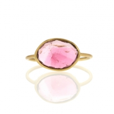 Pink Tourmaline 18k Gold Ring Image