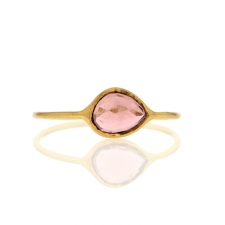18k Gold Pink Tourmaline Ring Image