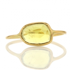 Yellow Tourmaline 18k gold Ring Image