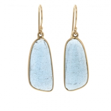 Moss Aquamarine Gold Earrings Image
