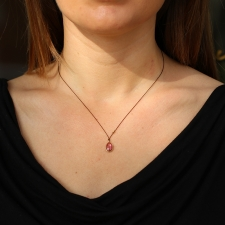Tourmaline Nylon Cord Necklace Image