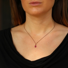 Ruby Nylon Cord Necklace Image