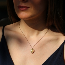 18k Gold Opal Nylon Cord Necklace Image