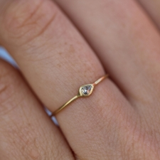 Delicate Diamond Yellow Gold Ring