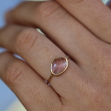 Pale Pink Tourmaline 18k Gold Ring Image