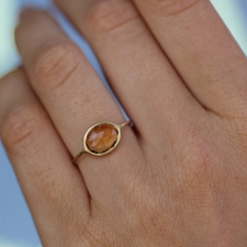 Yellow Tourmaline Gold Ring Image