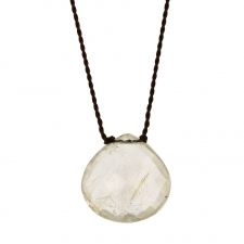 Faceted Rutilated Quartz Zen Gems Necklace Image