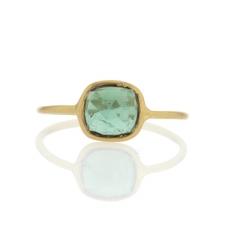 Green Tourmaline Yellow Gold Ring Image