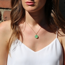 Chrysoprase 18k Gold Pendant (Chain Sold Separately) Image