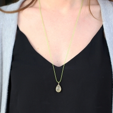 Golden Rutilated Quartz Drop Necklace Image