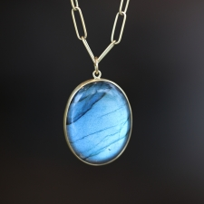 Oval Cabachon Labradorite Pendant (Chain Sold Separately) Image