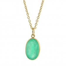 Spectacular Oval Emerald Pendant (Chain Sold Separately) Image