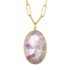 Oval Super Seven Amethyst Pendant (Chain Sold Separately) Image