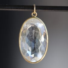 Golden Rutilated Quartz Faceted Pendant (Chain Sold Separately) Image