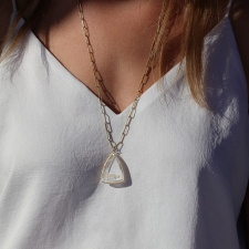 Phantom Quartz Triangular Pendant (Chain Sold Separately) Image