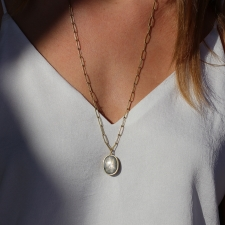 Light Blue Gray Star Sapphire Pendant (Chain Sold Separately) Image