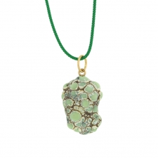 Variscite Pendant on Cord Image