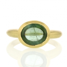 Grass Green Tourmaline 18k Gold Ring Image