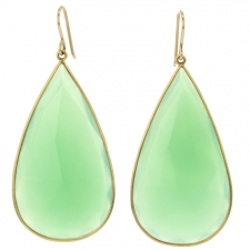 Chrysoprase Teardrop Earrings Image