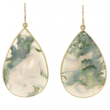 Moss Agate Teardrop Earrings Image