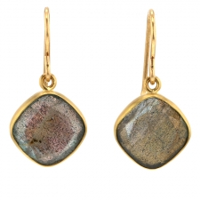 Labradorite 18k Gold Earrings Image