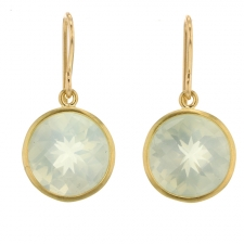 Green Moonstone Drop Earrings Image