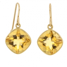 Citrine 18k Gold Dangle Earrings Image