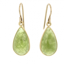 Sage Green Sapphire Earrings Image