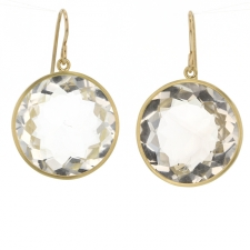 Herkimer Diamond Gold Earrings Image