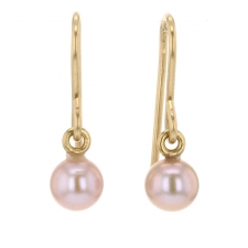 Pink Freshwater Pearl Earrings Image