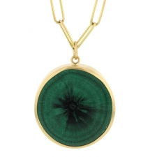 Malachite Stalagmite Slab Pendant (Chain Sold Separately) Image