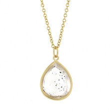 Pink Fire Quartz Gold Pendant (Chain Sold Separately) Image