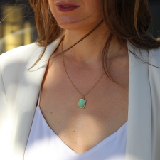 Rectangular Australian Opal Pendant (Chain Sold Separately) Image