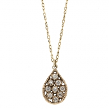Teardrop Diamond Drop Necklace Image