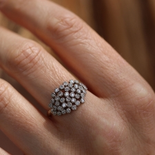 Large White Diamond Cluster Ring Image