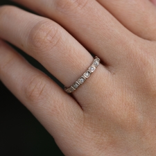 White Gold Square Diamond Band Image