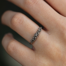Rounded Diamond Cluster White Gold Ring