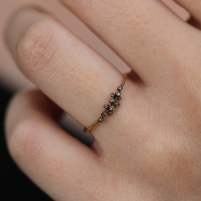 11 Brown Diamond Gold Ring Image