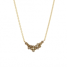Brown Diamond Cluster Necklace Image