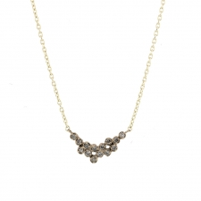 Gray Diamond White Gold Necklace