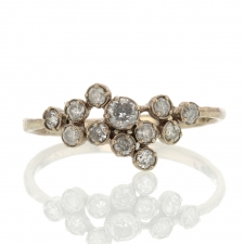 White Diamond Cluster Ring Image