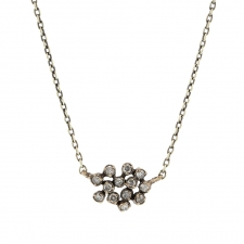 White Gold Diamond Cluster Necklace