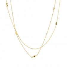 18k Gold Double Strand Necklace Image