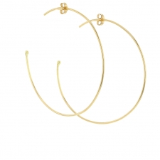 Large 18k Yellow Gold Hoop Earrings Image
